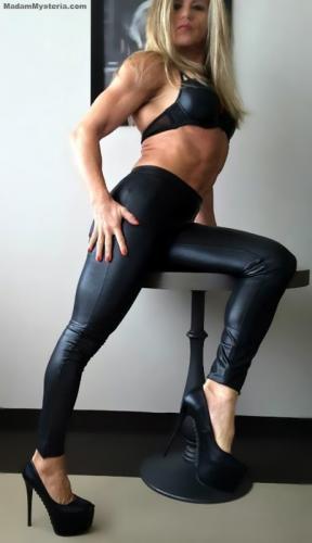 Leather Leggings & High Heels